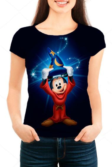 Camiseta Babylook Feminina Mickey Chapéu Mágico 01