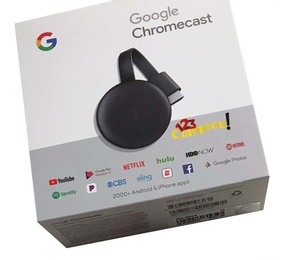 Novo Chromecast 3 Edicao 2019 Full Hd P 1080 Original Google