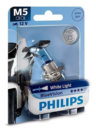 Lâmpada Farol Biz Bros Pop Philips Efeito Xenon 12153 M5 Bv