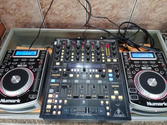 Mixer Behringer Ddm4000 + 2 Cdj Numark Ndx400 + Case
