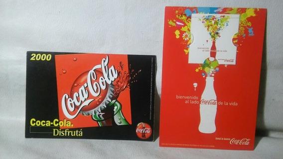 Lote De 2 Postales De Coca Retro Año 2000 Sin Uso