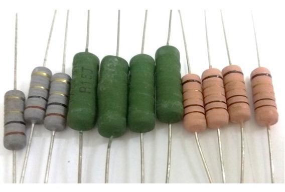 100un Resistor Fio/carvao 5w - Escolha Valor Ohmico