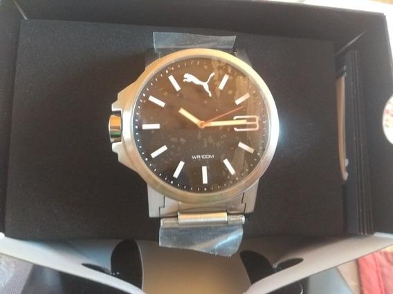 Relógio Puma Ultrasize Original Aço Escovado