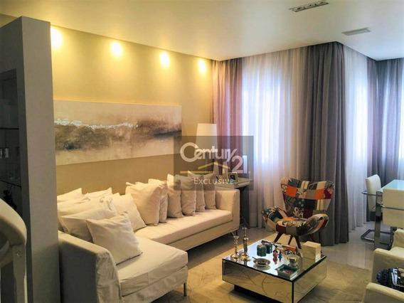 Cobertura No Parque Ecológico Com 247,72 M² Para Locação - R$4.000,00 - Residencial Piazza Treviso - Indaiatuba/sp! - Ap0247