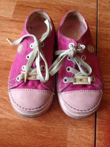 Zapatos Crocs Originales De Niñas Usados Talla 30