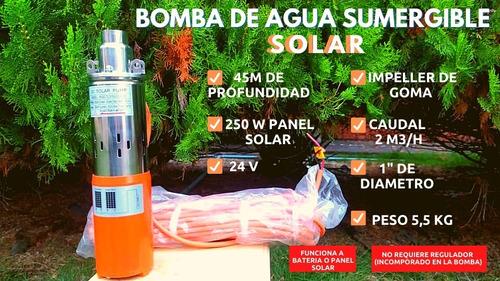 Bomba De Agua Solar Sumergible 24v 250w 45m Profundidad