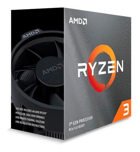 Processador Amd Ryzen 3 3100 3.6ghz 18mb Am4 Wraith Stealth