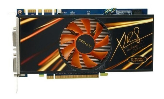 Pny Geforce Gts 250 1gb Dual Dvi Pci-e 256bits Ddr3