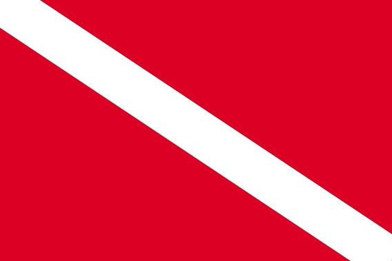 Placa Quadro Decorativo Da Bandeira De Mergulho 28x20 Cm
