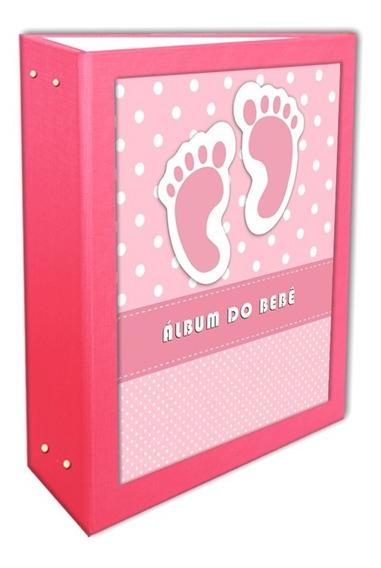 Álbum Do Bebê Rosa 15x21 - 120 Fotos + Brinde Especial*