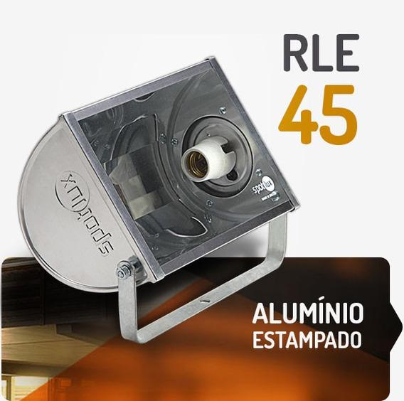 Refletores Com Laterais Em Alumínio Lâmpada Compacta De 45w
