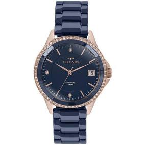 Relógio Feminino Technos Aço Inoxidável Azul/rosê 2315kzt/4a