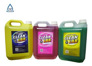 Pack Limpieza Detergente Lavandina Desodorante X 5 Lt Envio