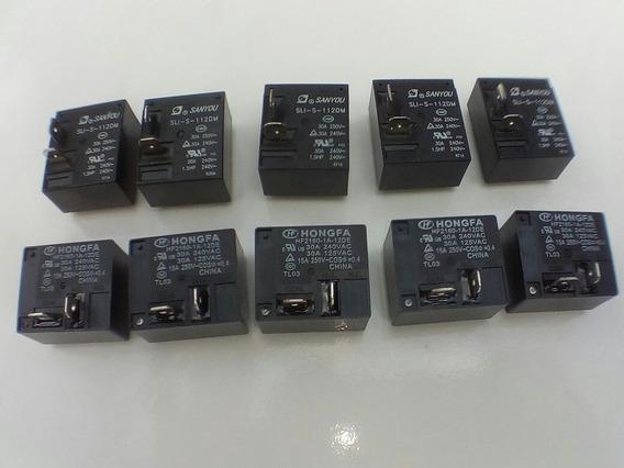 Rele Hongfa Hf 2160-1a-12de 30 A Kit Com 10 Rele