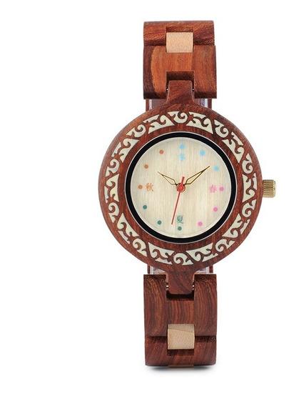 Relógio Feminino Bambu Analógico P152 Bobo Bird + Frete