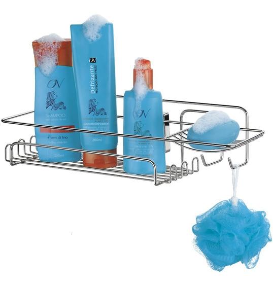 Suporte Porta Shampoo Sabonete Produtos De Banho De Ventosas