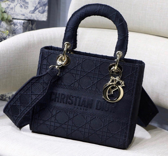 Bolsa Lady Dior D Lite Cannage Canvas