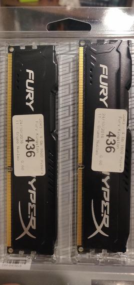 Memorias Kingston Fury Hyperx Ddr3 8gb (2x4gb) 1600