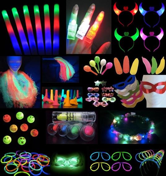 Combo Cotillon Luminoso Led Neon 200 Personas Casamiento