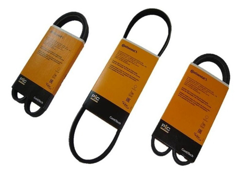 Kit 3 Correias Hyundai Atos Prime 1.0 12v 98 99 00 2001 2002