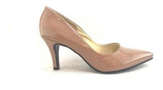 Zapato Mujer Stiletto Natacha Charol Nude #901 Black