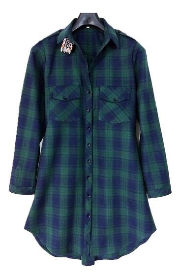 Maxi Camisa Escocesa Leñadora