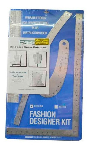 Fashion Designer Kit - Reglas Para Patronaje Fairgate