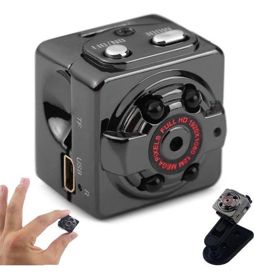 Mini Camara Oculta Espia Seguridad Vigilancia Full Hd Ir Sq8