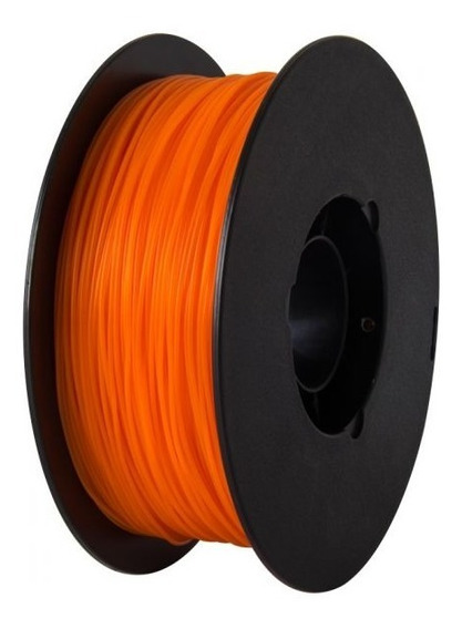 Filamento Pla 1,75 Mm Laranja 1kg Para Impressora 3d