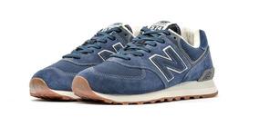 Tênis New Balance 574 Classics Camurça Nb - Azul Original