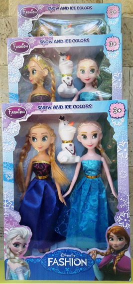 Set De Muñecas Frotzen Ana + Elsa + Olaf 24 Cm Juguete