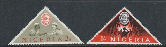 1963 Jamboree Movimiento Boy Scouts- Rep Nigeria (sellos)