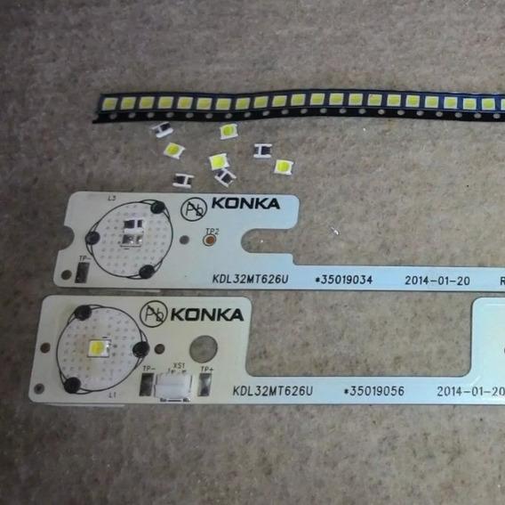Led Konka Semp Toshiba 6v - 32l2400 / Dl3244 / Kit C/100