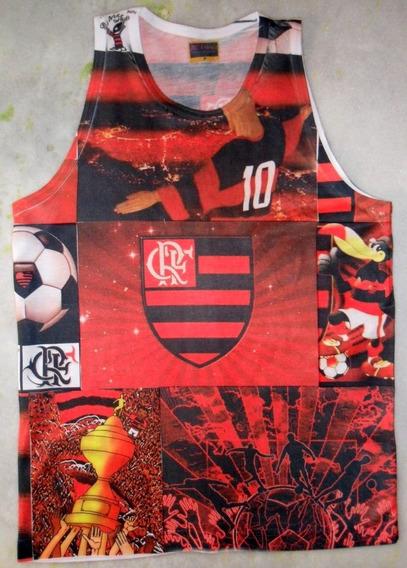 Camiseta Do Flamengo Toda Estampada