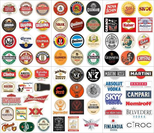 Adesivos Cerveja Whisky Tequila Revenda 152un