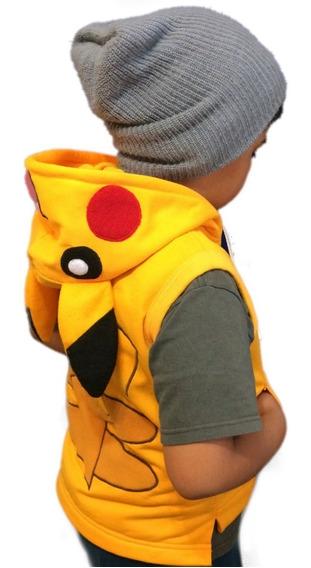Chaleco Suave De Pikachu Infantil Bordado De 1 A 10 Años