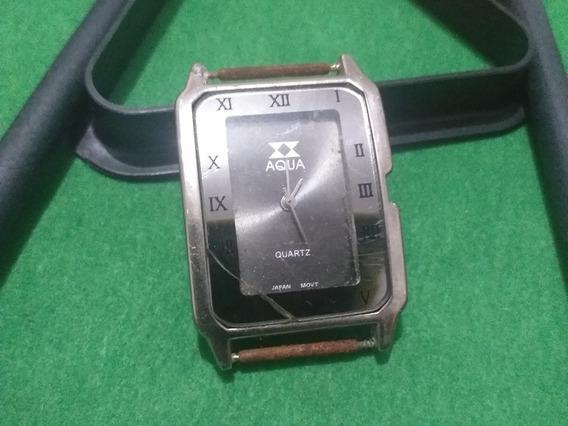Relógio De Pulso Aqua Quartz Para Conserto Ou Reaproveitamen