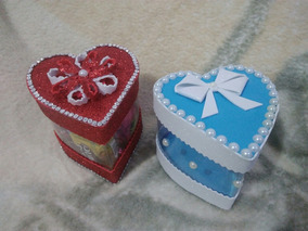 Presente Dia Dos Namorados Coração Artesanal Com Chocolate