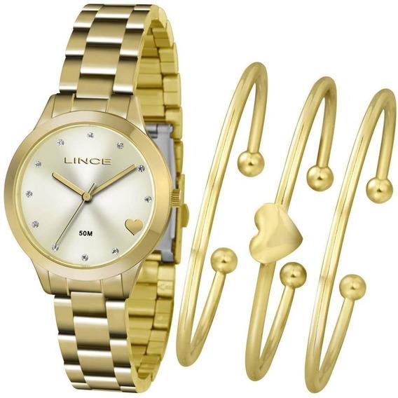 Kit Relógio Feminino Lince Lrg4450l Kt84c1kx