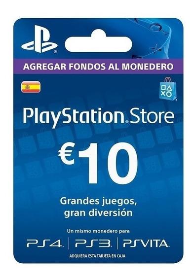 Tarjeta De Regalos Playstation Network España 10 Euros