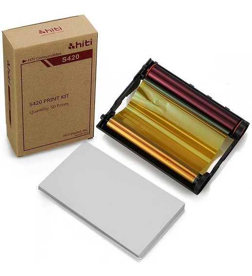 Papel / Ribbon Impressora S420 Hiti