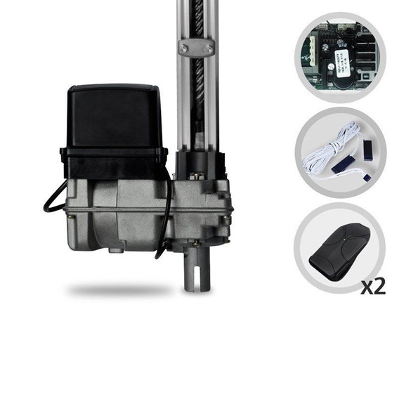 Motor Portão Basc. 1/4hp 300 Kg Jetflex 4 Seg Bi-volt + 2 Tx