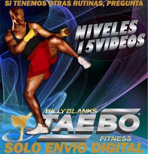 Tae Bo 15 Videos Zumba Fitness Adelgazar Gimnasio En Casa