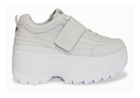 Zapatillas Mujer Plataformas Blancas Festival 47 Street Moda