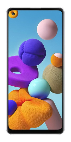 Celular Smartphone Samsung Galaxy A21s 32gb Branco - Dual Chip