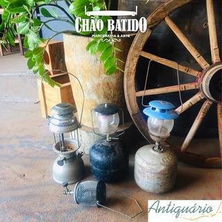 Lote 07 - Lampião/lamparina - Gás E Querosene - Antigo