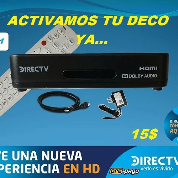 Activaciones Decodificadores Directv Sd Y Hd Usados