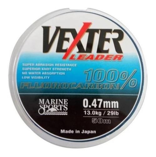 Imagem 1 de 2 de Linha Fluorocarbono Vexter - 0,47mm - 29lb - 50m - Leader