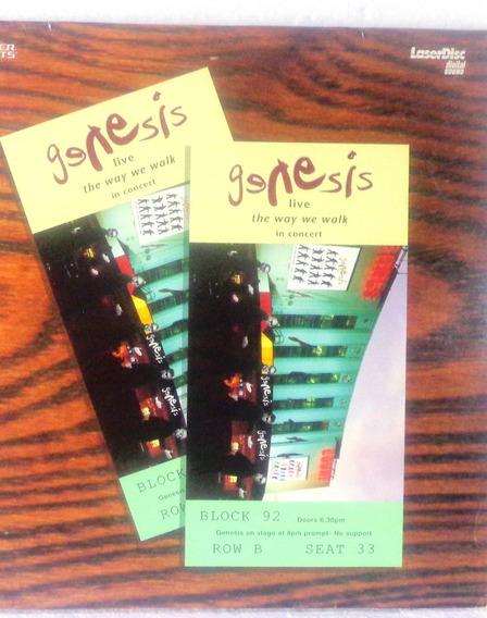 Genesis Live The Way We Walk In Concert Laserdisc Original