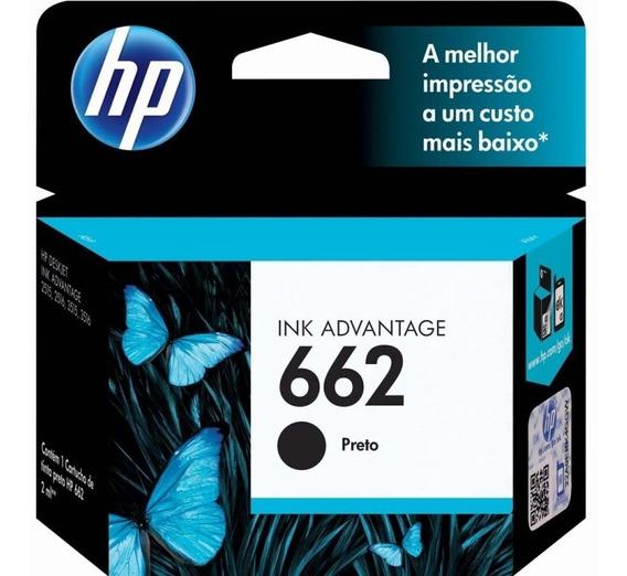 Cartucho De Tinta Hp 662 Cz103ab Preto (2 Ml)